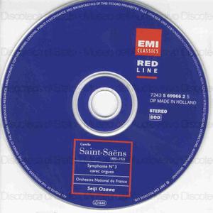 Symphonie n. 3 en ut mineur : op. 78 : avec orgue ; Phaeton : op. 79 ; le Rouet d'Omphale : op. 31 / Camille Saint-Saens ; Orchestre National de France ; Seiji Ozawa ; Philippe Lefebvre, organ