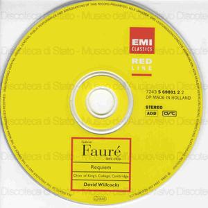 Requiem, Op. 48 ; Pavane, Op. 50 / Gabriel Faure'. Missa Papae Marcelli / Giovanni Pieluigi da Palestrina ; Choir of King College, Cambridge ; New Philharmonia Orchestra ; Sir David Willcocks