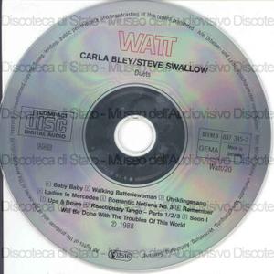 Duets / Carla Bley, piano ; Steve Swallow, bass