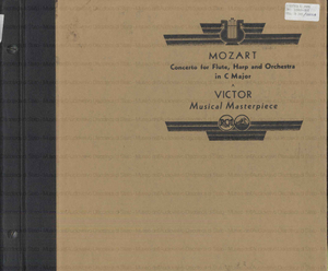 Concerto in C Major, No. 299 / Mozart ; Macel Moyse, flute ; Lily Laskine, harp ; with Orchestra ; conducted by Piero Coppola