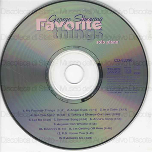 Favorite things : solo piano / George Shearing