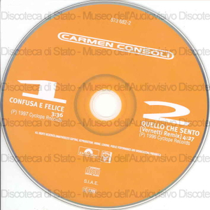 Confusa e felice / Carmen Consoli