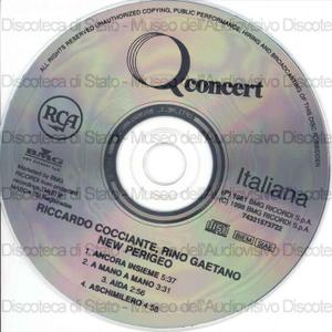 Q concert / Riccardo Cocciante, Rino Gaetano, New Perigeo