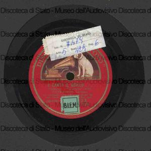 E canta il grillo : pastorale ; Sei morta nella vita mia! : romanza / baritono Titta Ruffo