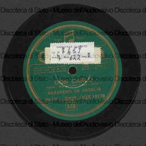 Don Carlos : Ella giammai m'amo' ; Dormiro' sol / Verdi ; N. De Angelis, basso