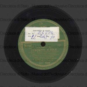 Desiderio ''e sole ; Vulennote bene / tenore F. Albanese ; Orchestra napoletana di melodie e canzoni ; direttore G. Anepeta