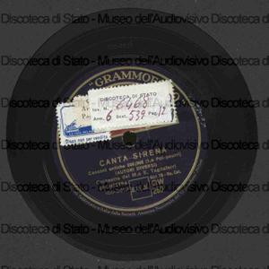 Canta sirena : Canzoni antiche 800/900 (pot-pourri) / Autori vari ; Orchestra del M.o E. Tagliaferri