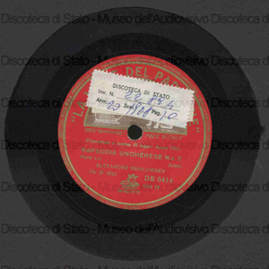 Rapsodia ungherese n. 2 / Liszt ; A. Brailowsky, pianoforte