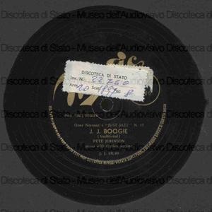 J. J. Boogie ; Yancey special boogie / Pete Johnson, pianoforte