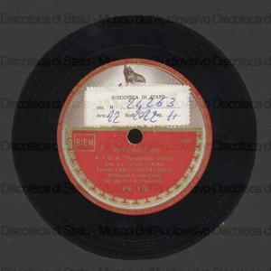 Aida : Celeste Aida / G. Verdi. Andrea Chenier : Un di' all''''azzurro spazio / U. Giordano ; [entrambi i brani eseguiti da] V. Campagnano, tenore ; Orch. lirica Cetra ; Simonetto, direttore