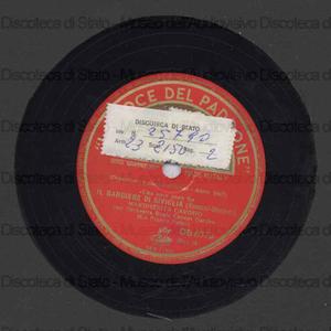 Il barbiere di Siviglia : una voce poco fa / G. Rossini ; M. Carosio, soprano ; Orchestra Reale Covent Garden ; Patane', direttore