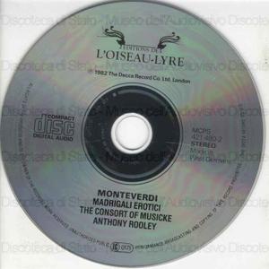 Madrigali erotici / Claudio Monteverdi ; Emma Kirkby, Judith Nelson, Poppy Holden ... [et al.] ; The Consort of Musicke directed by Anthony Rooley