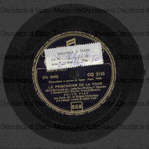 Le prisonnier de la tour ; Dany / E. Piaf con orchestra e compl. vocale R. Saint - Paul