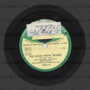 The song from desiree ; Who gave you the roses / Bing Crosby con orchestra ; Newman, direttore