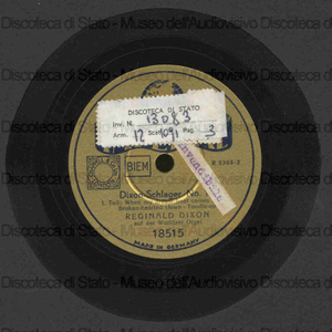Dixon Schlager n. 15 / Reginald Dixon con organo vurlitzer