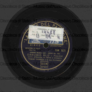 Danubio blu ; Who / T. Dorsey e la sua orchestra