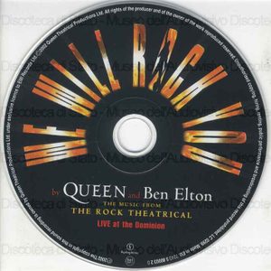 We will rock you : the music from the Rock Theatrical : Live at the Dominion / by Queen and Ben Elton