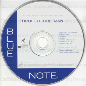 At The Golden Circle : Volume two / Ornette Coleman