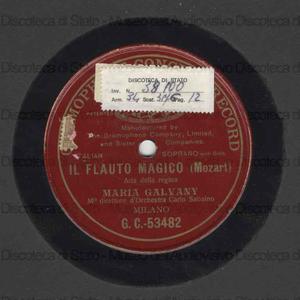 Il Flauto magico : Aria della Regina / W. A. Mozart ; M. Galvany ; C. Sabayno, direttore