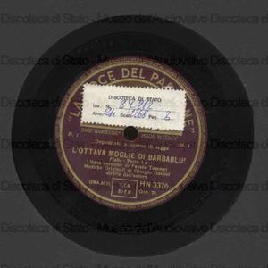 L''ottava moglie di Barbablù / musiche originali di G. Gaslini ; G. Gaslini, direttore