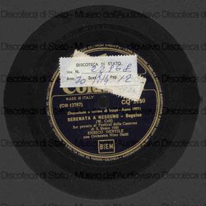 Serenata a nessuno ; Sedici anni / E. Gentile ; Orchestra N. Gatti