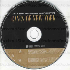 Gangs of New York : music from the Miramax motion picture / [interpreti]: U2, Peter Gabriel, Silver Leaf Quartet ... [et al.]