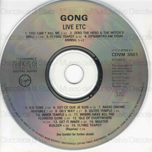 Gong : Live etc