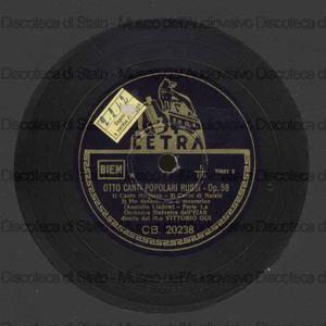 8 canti popolari russi / Ljadov. Reverie / A. Skrjabin ; [entrambi i brani eseguiti da] Orch. EIAR ; V. Gui, direttore