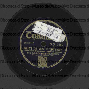 What''s the name of that song ; Goody goody / The B.B.C. Dance Orchestra ; H. Hall, direttore