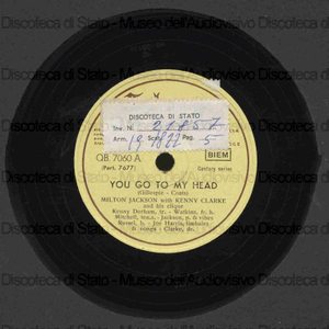 You go to my head ; Conglomerations / Milton Jackson with Kenny Clarke and his Clique