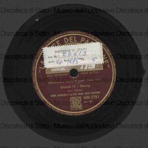 Snag it ; Franklin street blues / B. Johnson ; Orchestra New Orleans