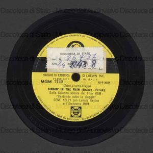 Singing in the rain ; All I do is dream of you / Gene Kelly ; Lennie Hayton ; Orchestra MGM