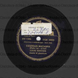 Czardas macabra / Liszt ; L. Kentner, pianoforte