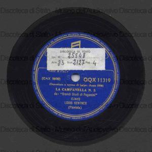 La campanella n. 3 ; La caccia n. 5 : Grandi studi di Paganini / F. Liszt ; L. Kentner, pianoforte