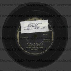 Polacca op. 40 n. 1 ; Mazurka op. 33 n. 4 / Chopin ; R. Koczalski, pianoforte