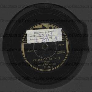 Valzer op. 34 n. 2 in la min. ; Valzer op. 18 in mi bem. magg. / Chopin ; R. Koczalski, pianoforte