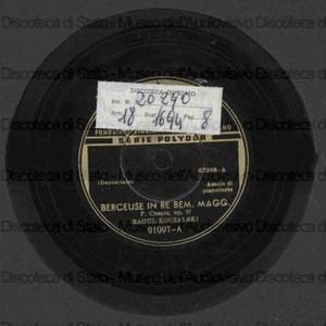 Berceuse re bem. magg. op. 57 ; Notturno in mi bem. magg. op. 9 n. 2 / Chopin ; R. Koczalski, pianoforte