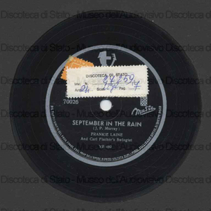 September in the rain ; We'll be together again / F. Laine e Carl Fischer's Swingtet