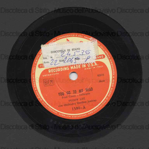 You go to my head ; Lover / P. Lee ; Orch. Jenkins