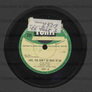 Love you didn''t do right by me ; Sisters / P. Lee con orchestra ; Jos Lilley, direttore