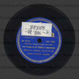 Notturno in Re bem. magg. op. 27 n. 2 / Chopin ; D. Lipatti, pianoforte