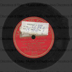 E se un giorno tornasse ; Stornellatrice / Respighi ; Victoria De los Angeles, soprano ; [1. brano] Ivor Newton, pianoforte ; [2. brano] G. Moore, pianoforte