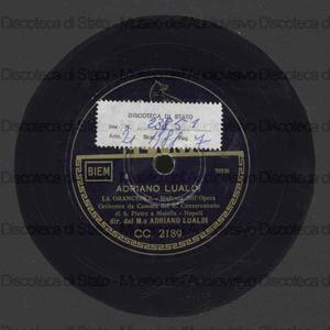 La granceola : sinfonia / A. Lualdi. Le tombeau de Couperin : rigaudon / M. Ravel ; [entrambi i brani eseguiti da] Orch. conservatorio di Napoli S. Pietro a Maiella ; A. Lualdi, direttore