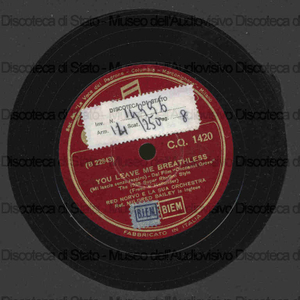 You leave me breathless ; Says my heart / Mildred Bailey ; Red Norvo e orchestra