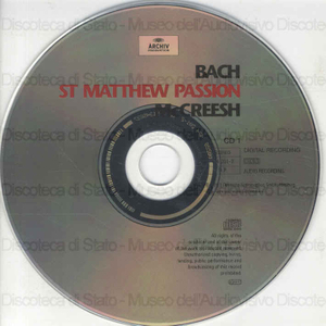 St Matthew Passion = Marrhaus-Passion = Passion selon saint Matthieu ; Gabriel Players ; Paul McCreesh ; D.York ; J. Gooding ; M. Kozena ... [et al.]