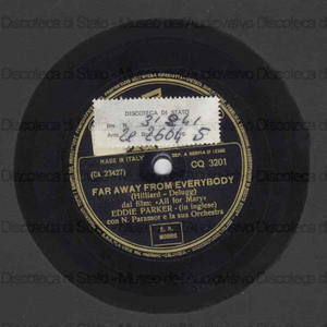 Far away from everybody ; Bella notte / Parker ; Orch. Paramor ; N. Paramor, direttore