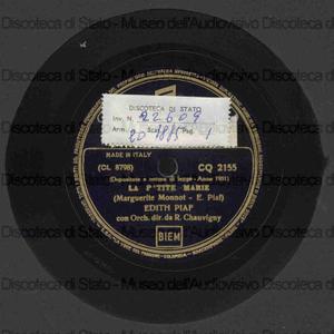 La p''tite Marie ; Hymn a l'amour / E. Piaf ; R. Chavvigny, direttore