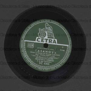 Casanova ; Dorme Taormina / Quartetto Cetra ; [1. brano] Orch. Ferrari [2. brano] Orch. Ceragioli