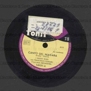 Canto del Niagara ; Teresina col s'ciopp in spalla / I Radio Boys ; orchestra diretta da F. Ferrari