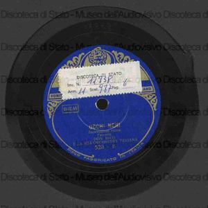 Occhi neri ; Serenata andalusa / Don Rico e la sua orchestra tzigana